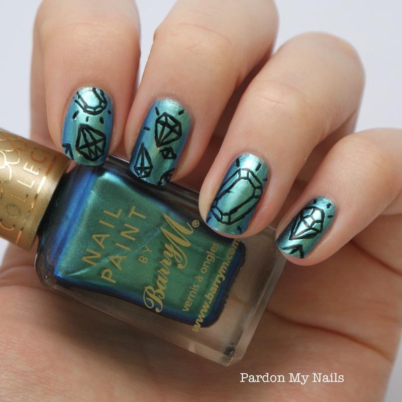 Diamonds are a girls best friend nail art by pardon my nails diamonds are a girls best friend nail art by pardon my nails prinsesfo Images