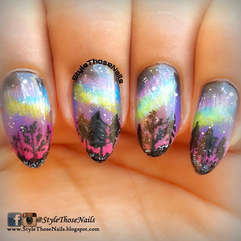 Northern Light Nails nail art by Anita Style Those Nails