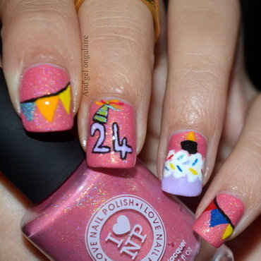 It's my Birthday nail art by And'gel ongulaire