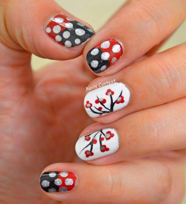 Cherry Blossoms nail art by NailsContext