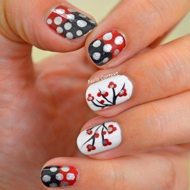 Cherry Blossoms nail art by NailsContext