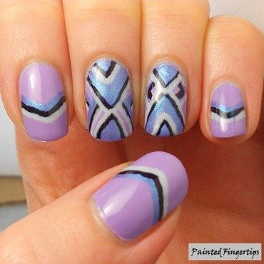 Chevron Nail Art nail art by Kerry_Fingertips
