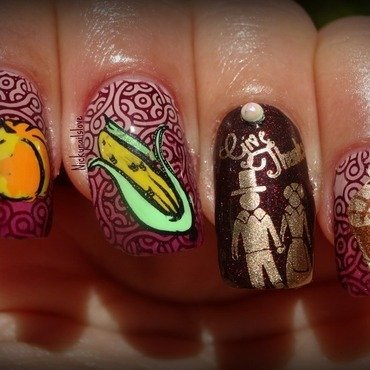 Thanks Giving nail art by Nicky