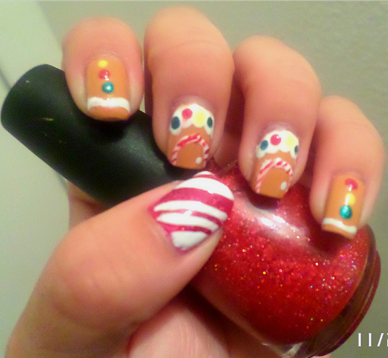 Christmas Sweets nail art by StephGlamNailz
