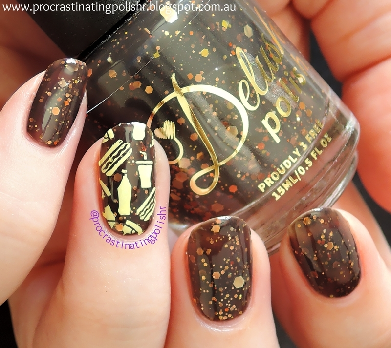 Master of Fast Food nail art by Jae Harrison