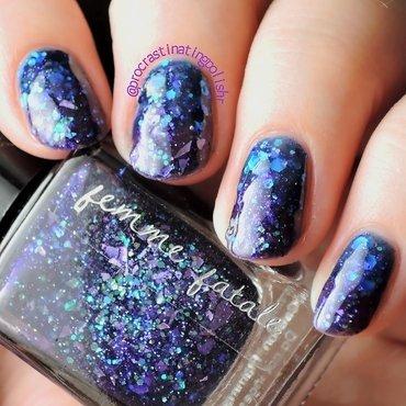 Blurple jelly gradient nail art by Jae Harrison