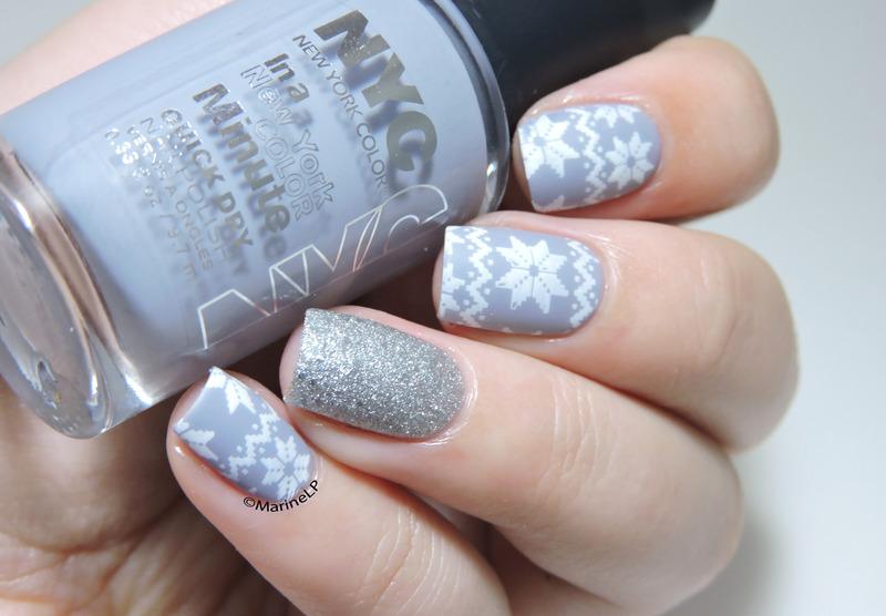 Cosy sweater nails nail art by Marine Loves Polish