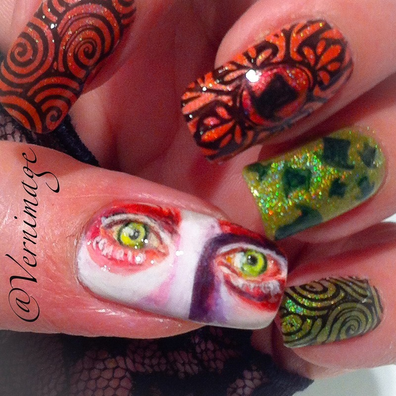 Alice in Wonderland - The Mad Hatter nail art by Vernimage