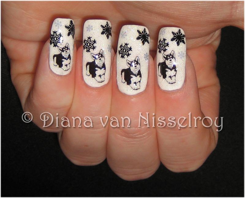 Husky nail art by Diana van Nisselroy - Nailpolis: Museum of Nail Art