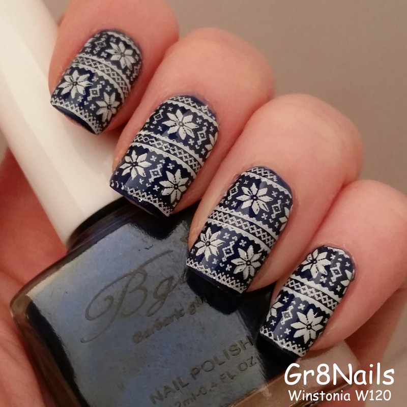 winter sweater  nail art by Gr8Nails