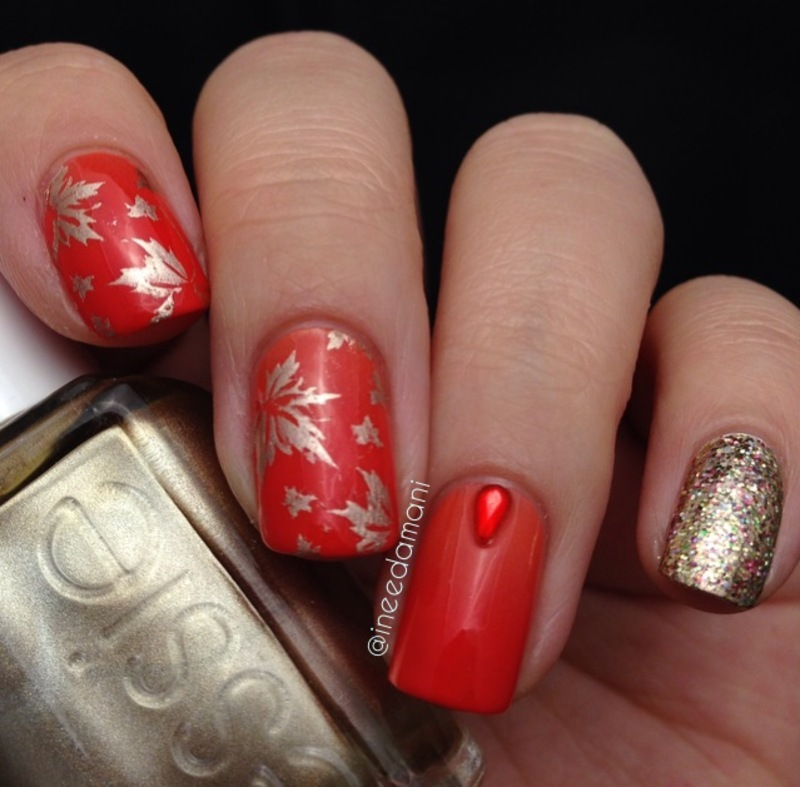 Diy Autumn Gradient Nail Art: Subtle Gradient Autumn Leaves Nail Art By Carmen