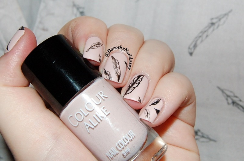 as light as feather nail art by Dorothy NailAssay