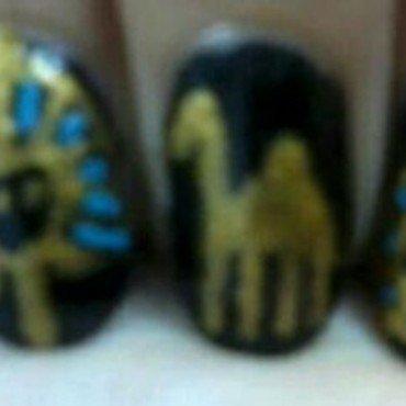 egyptian nail art by Rebecca