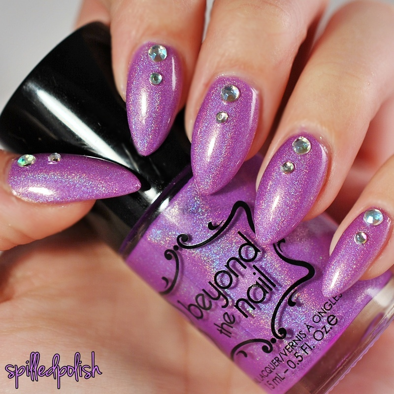 Holo Lavender nail art by Maddy S