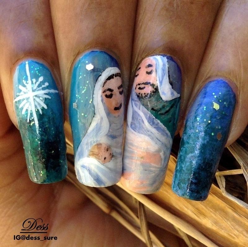 Baby Jesus nail art by Dess_sure - Nailpolis: Museum of Nail Art
