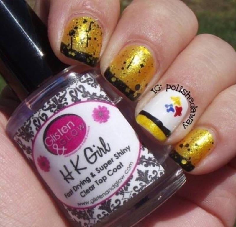Pittsburgh Steelers Nail Art By Shanna Beam Nailpolis Museum Of
