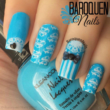 Alice nail art by BaroquenNails