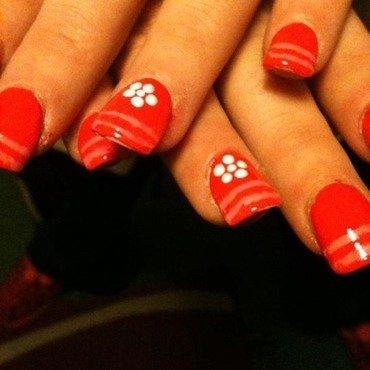 French stripe nail art by Tiger Carla