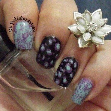 Saran Wrap & Leopard Print nail art by Shanna Beam