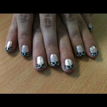 Cross ur French  nail art by Tiger Carla