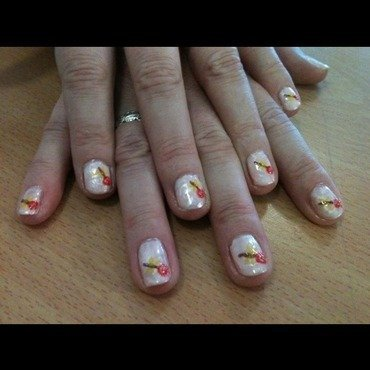 Marbled lollipops nail art by Tiger Carla