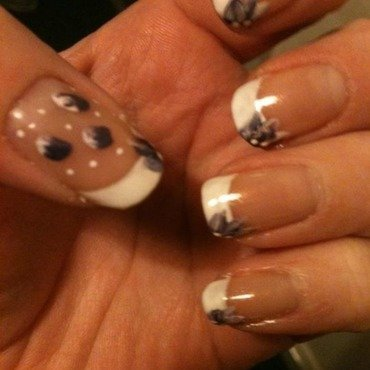 First attempt at one stroke nail art by Tiger Carla