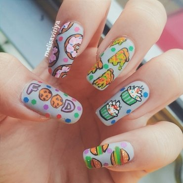 Food Lovers nail art by melisa viriya