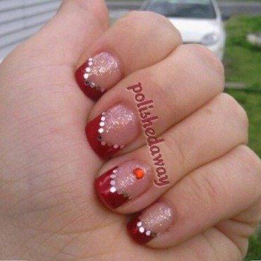 Chevron Tip w Glitter Placement nail art by Shanna Beam