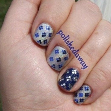 Glitter Placement nail art by Shanna Beam