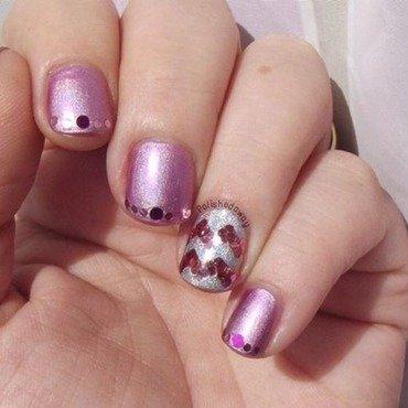 Chevron Glitter Placement nail art by Shanna Beam