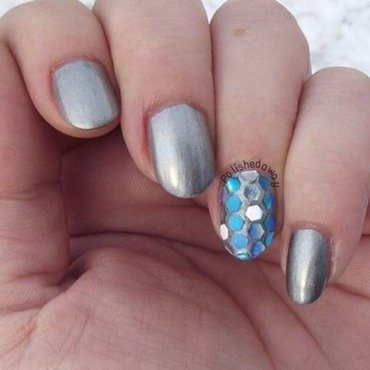 Glitter Placement Accent nail art by Shanna Beam