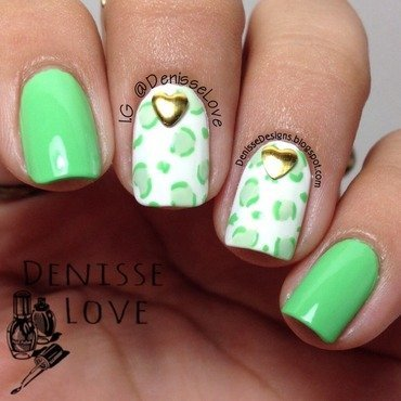 Animal Print + Studs nail art by Denisse Love