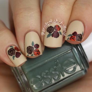 Fall Floral Nail Art nail art by Kelli Dobrin
