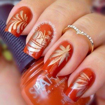 Thanksgiving Nails nail art by Debbie