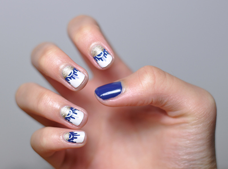 Abstract Nails nail art by Lucy (the Nail Snail)
