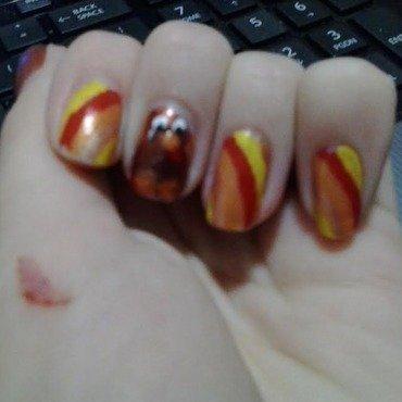 Turkey! 2014 nail art by JessJar19