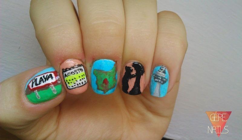 MADRID nail art by GepeNails