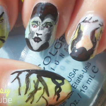 Maleficent Nail Art nail art by madjennsy Nail Art
