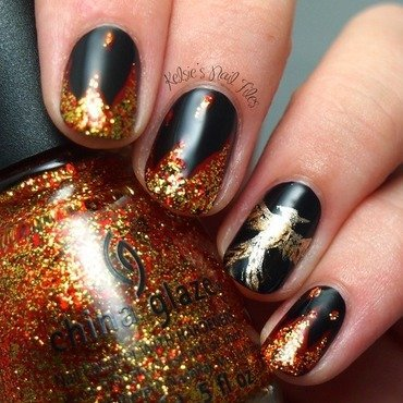 Mockingjay Nail Art nail art by Kelsie