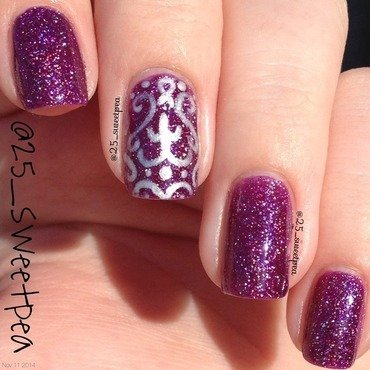 Dreamy Aurora  nail art by 25_sweetpea