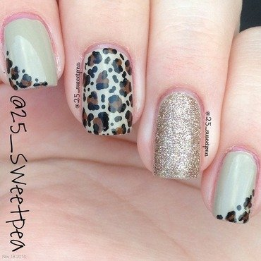 Simple Cheetah nail art by 25_sweetpea