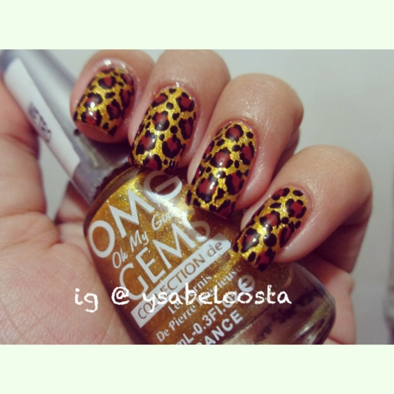 Leopard print! nail art by Katrina Ysabel Costa