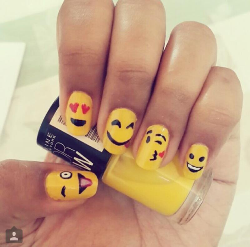 Emoji nail art nail art by Shailee - Nailpolis: Museum of Nail Art