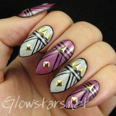 Featuring Born Pretty Store isosceles triangle nail studs nail art by Vic 'Glowstars' Pires