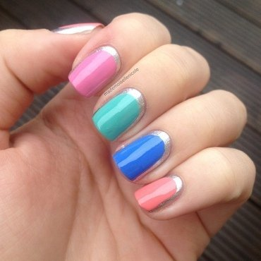 Colourful Metallics nail art by mademoisellenicole