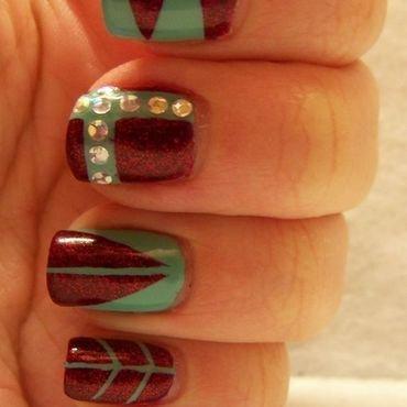Shapes nail art by Melanie Dzyak