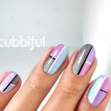 Holo color block nails thumb370f