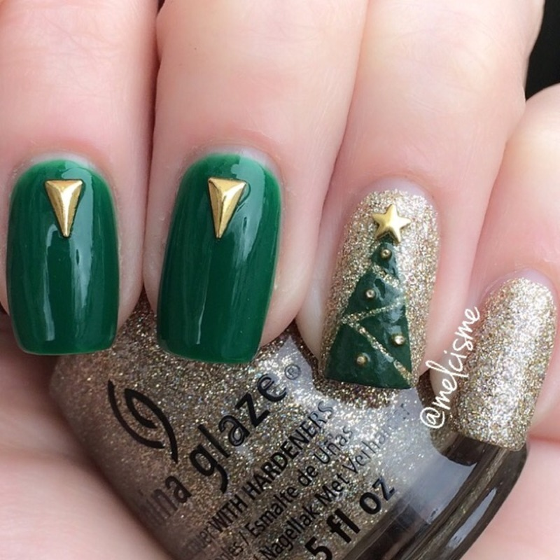 Christmas Tree nail art by Melissa - Nailpolis: Museum of Nail Art