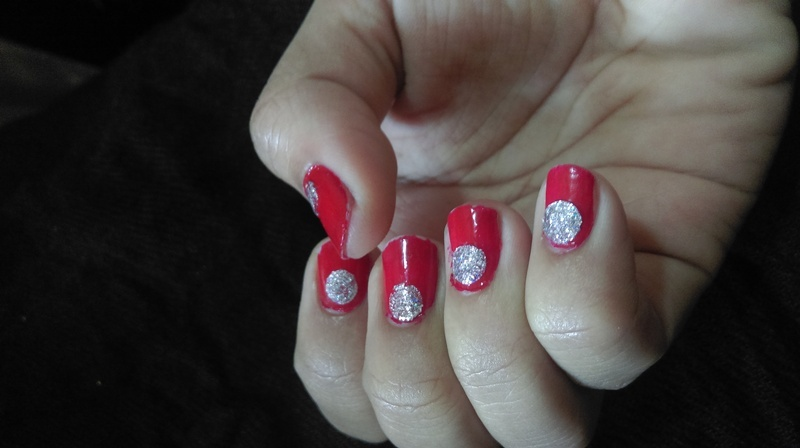 #diy glitter  decals nail art nail art by polish_it_girls