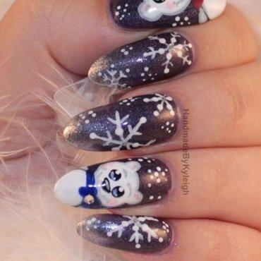 Polar Bears nail art by  Kyleigh  'Handmade By Kyleigh'